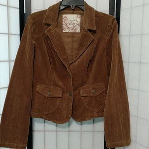Brown Sonoma Stretch Pinwhale Corduroy Jacket M